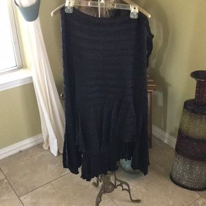Black asymmetric skirt